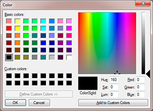 selector de color nativo del sistema parainput type color