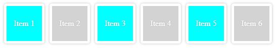 Ejemplo de los 3 primeros elementos de un tipo encontrados