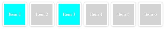 Ejemplo selección de todos los elementos que coincidan con una clase dentro de los n primeros elementos